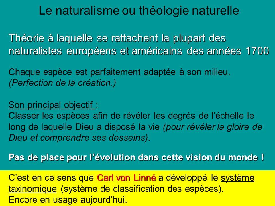 Le naturalisme ou théologie naturelle