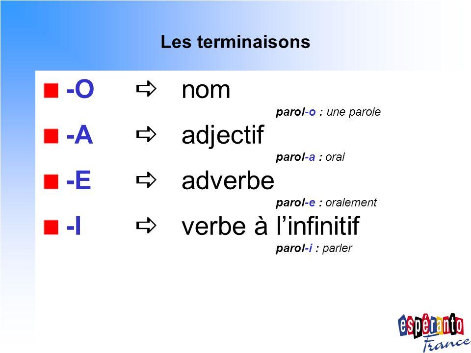 -I  verbe à l'infinitif