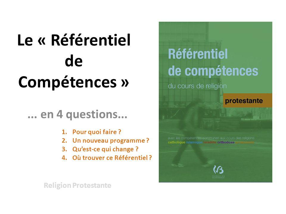 Le « Référentiel de Compétences »