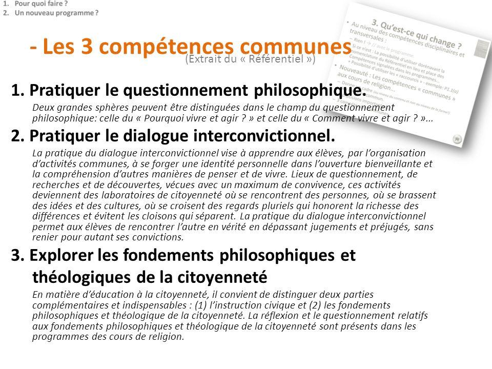 - Les 3 compétences communes