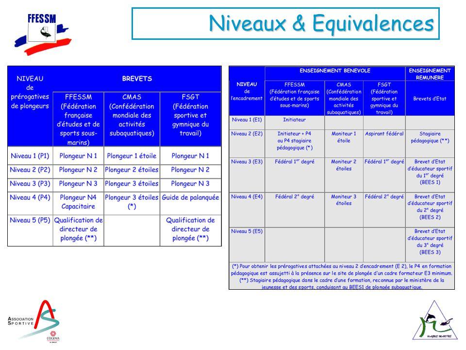 Niveaux & Equivalences
