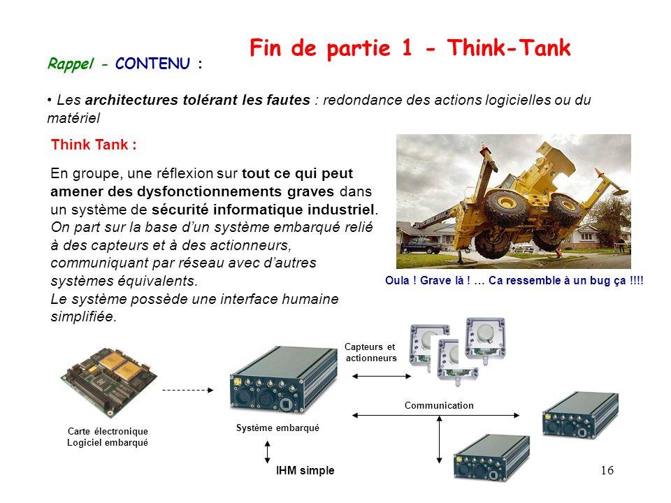 Fin de partie 1 - Think-Tank