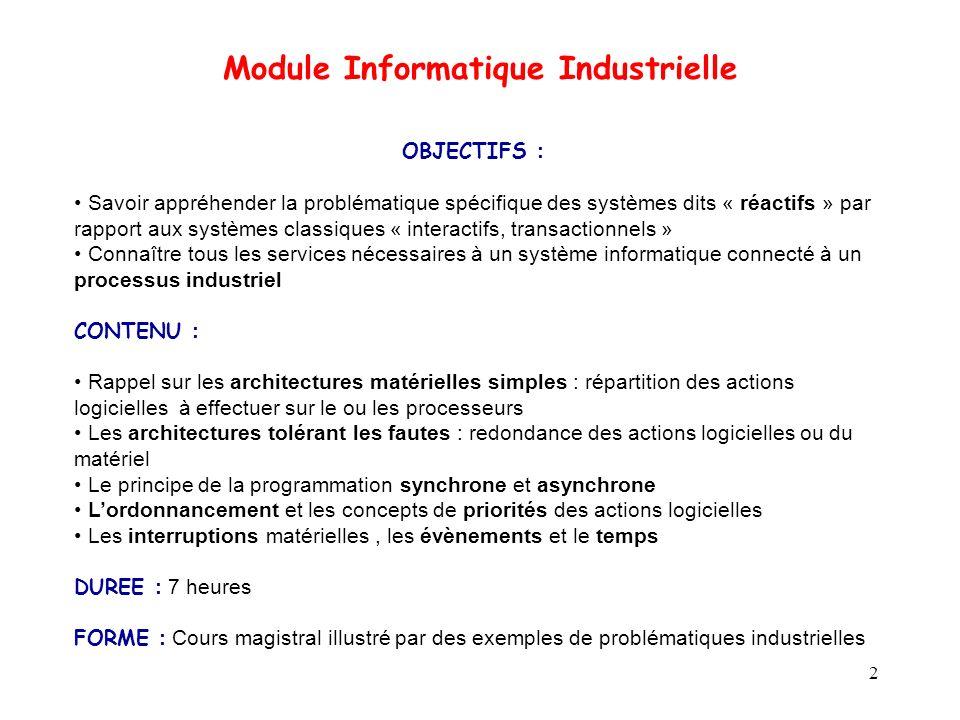 Module Informatique Industrielle
