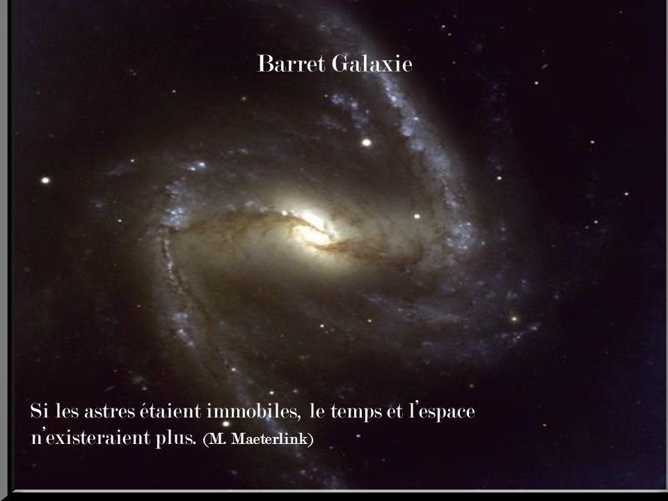 Barret Galaxie Si les astres étaient immobiles, le temps et l'espace n'existeraient plus.