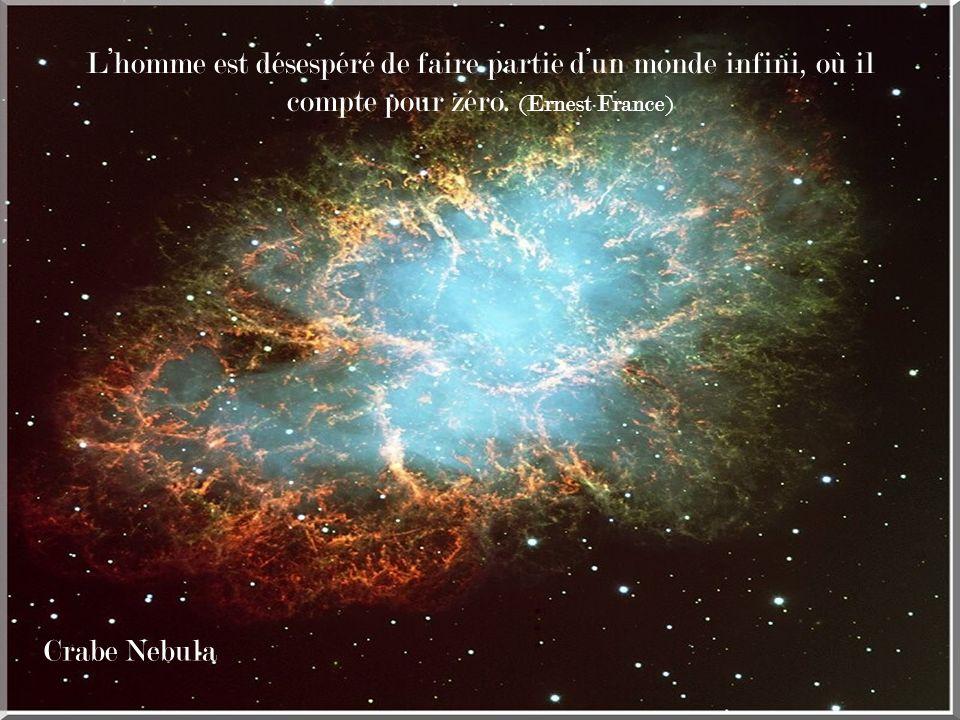 L'homme est désespéré de faire partie d'un monde infini, où il compte pour zéro. (Ernest France)