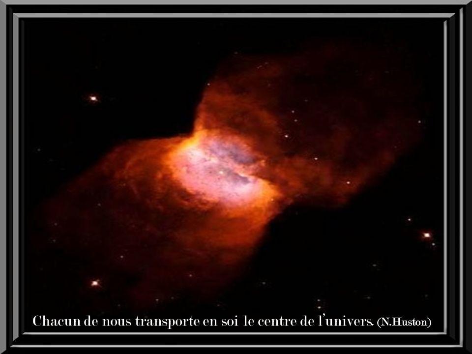 Chacun de nous transporte en soi le centre de l'univers. (N.Huston)