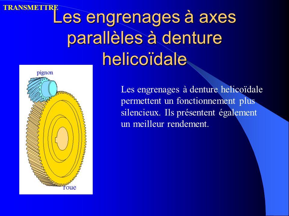 Les engrenages à axes parallèles à denture helicoïdale