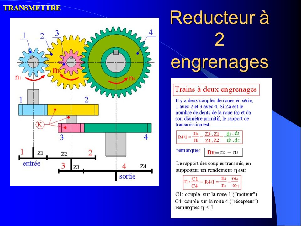 Reducteur à 2 engrenages
