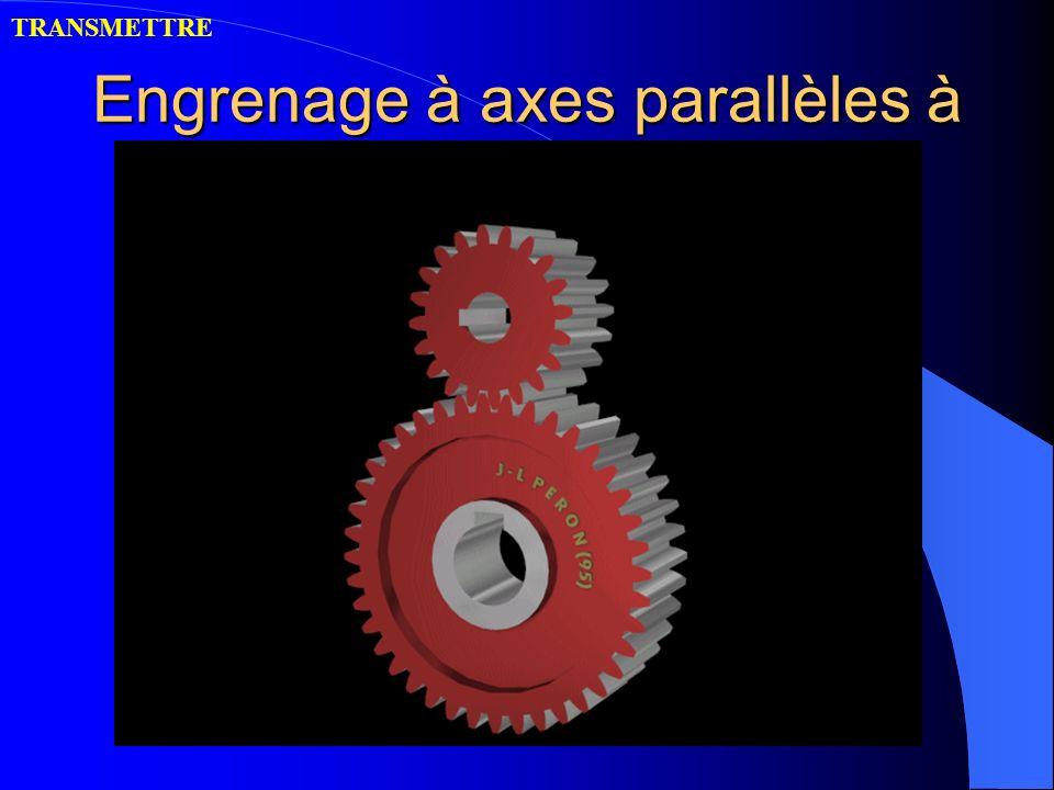 Engrenage à axes parallèles à denture droite