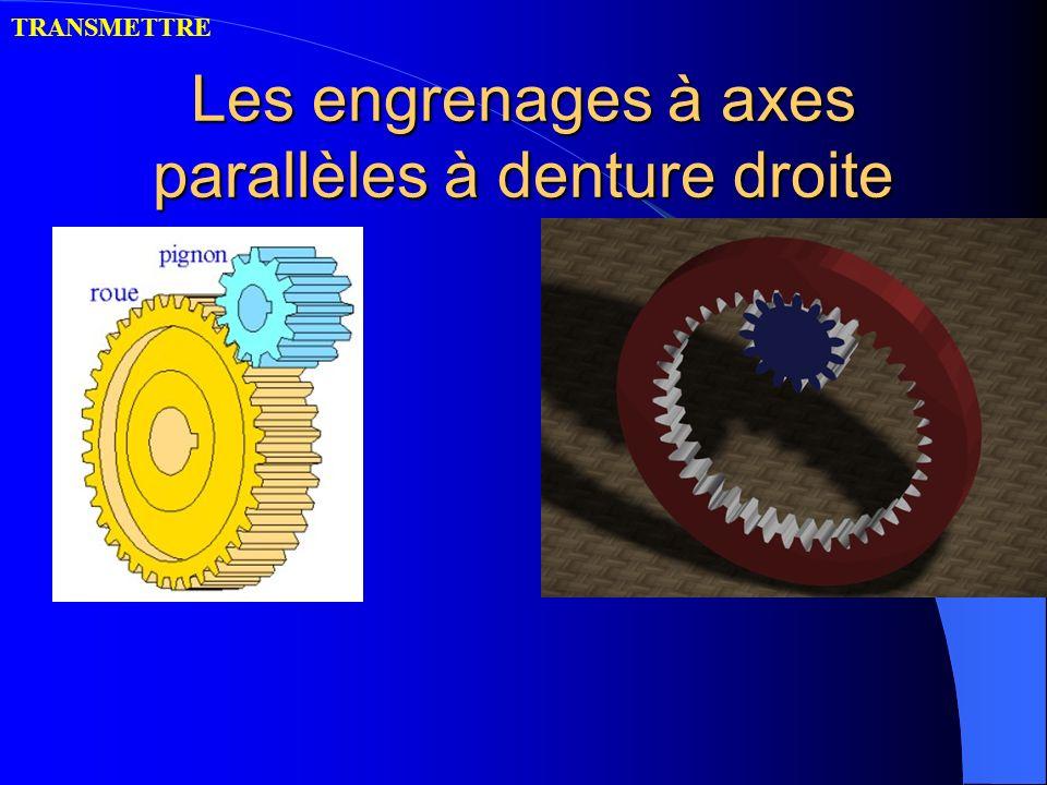 Les engrenages à axes parallèles à denture droite