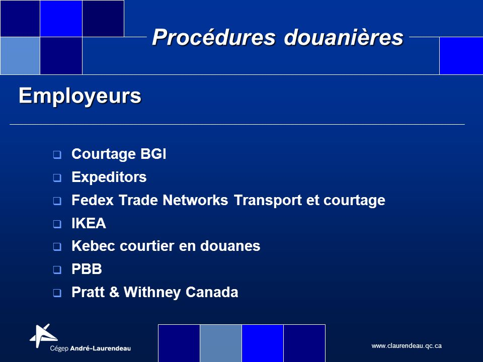 Employeurs Courtage BGI Expeditors