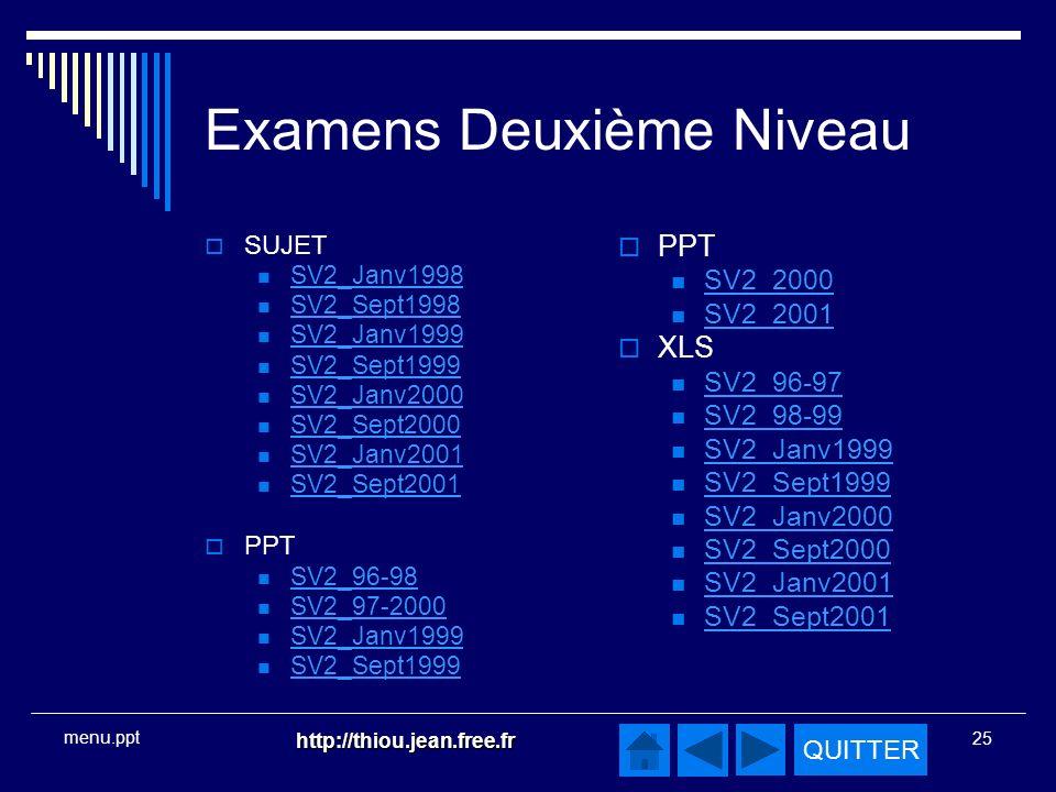 Examens Deuxième Niveau