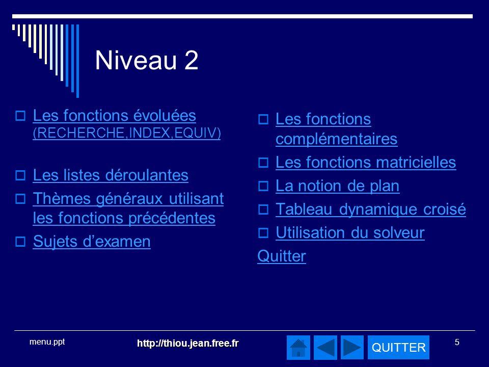 Niveau 2 Les fonctions évoluées (RECHERCHE,INDEX,EQUIV)