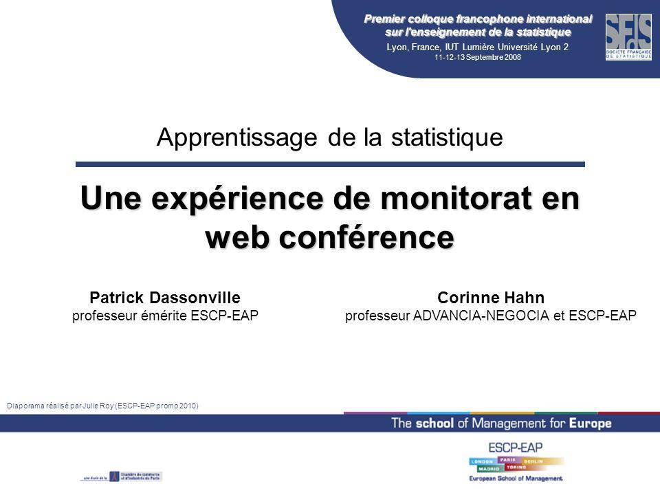 Une expérience de monitorat en web conférence