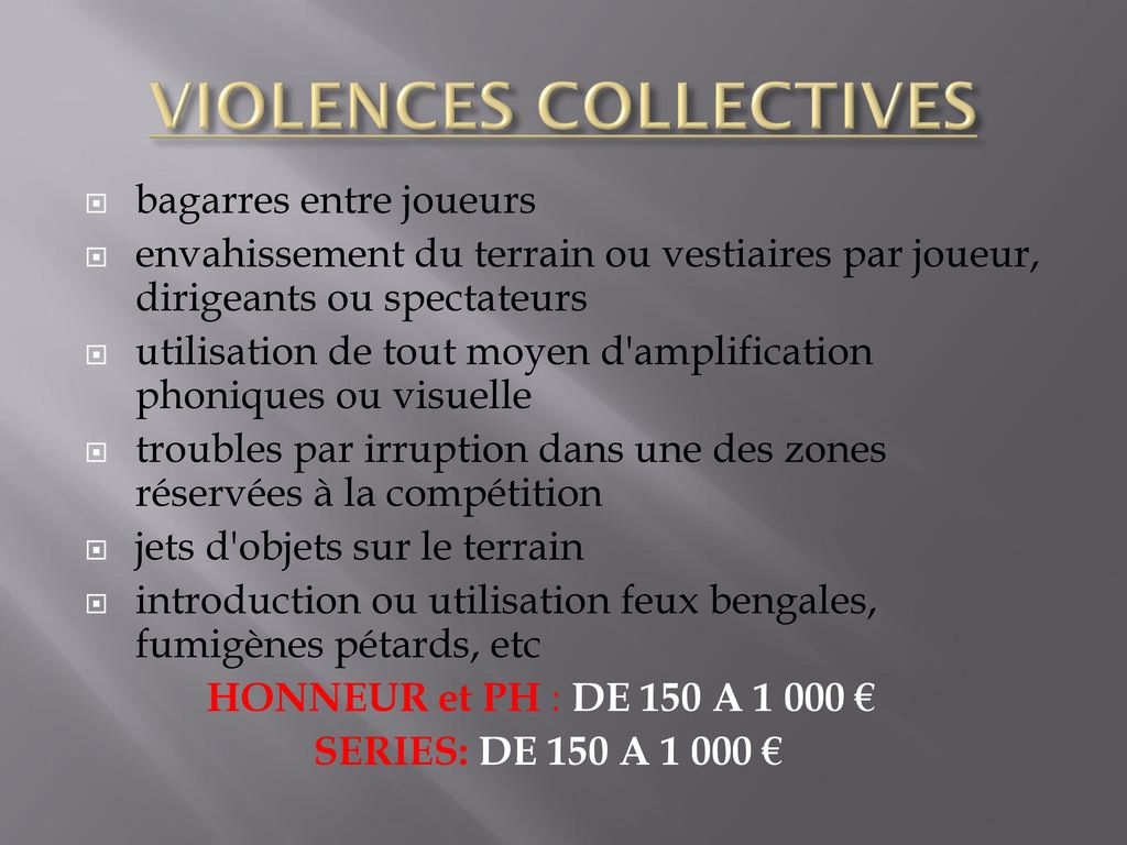 VIOLENCES COLLECTIVES