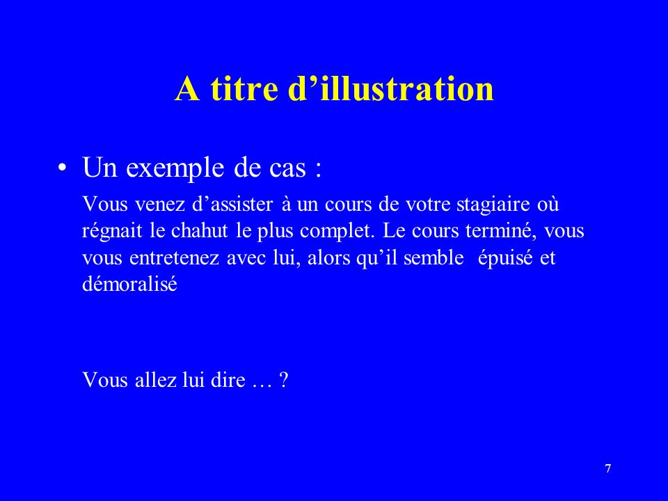 A titre d'illustration