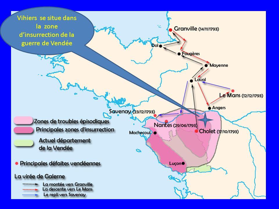 Vihiers se situe dans la zone d'insurrection de la guerre de Vendée