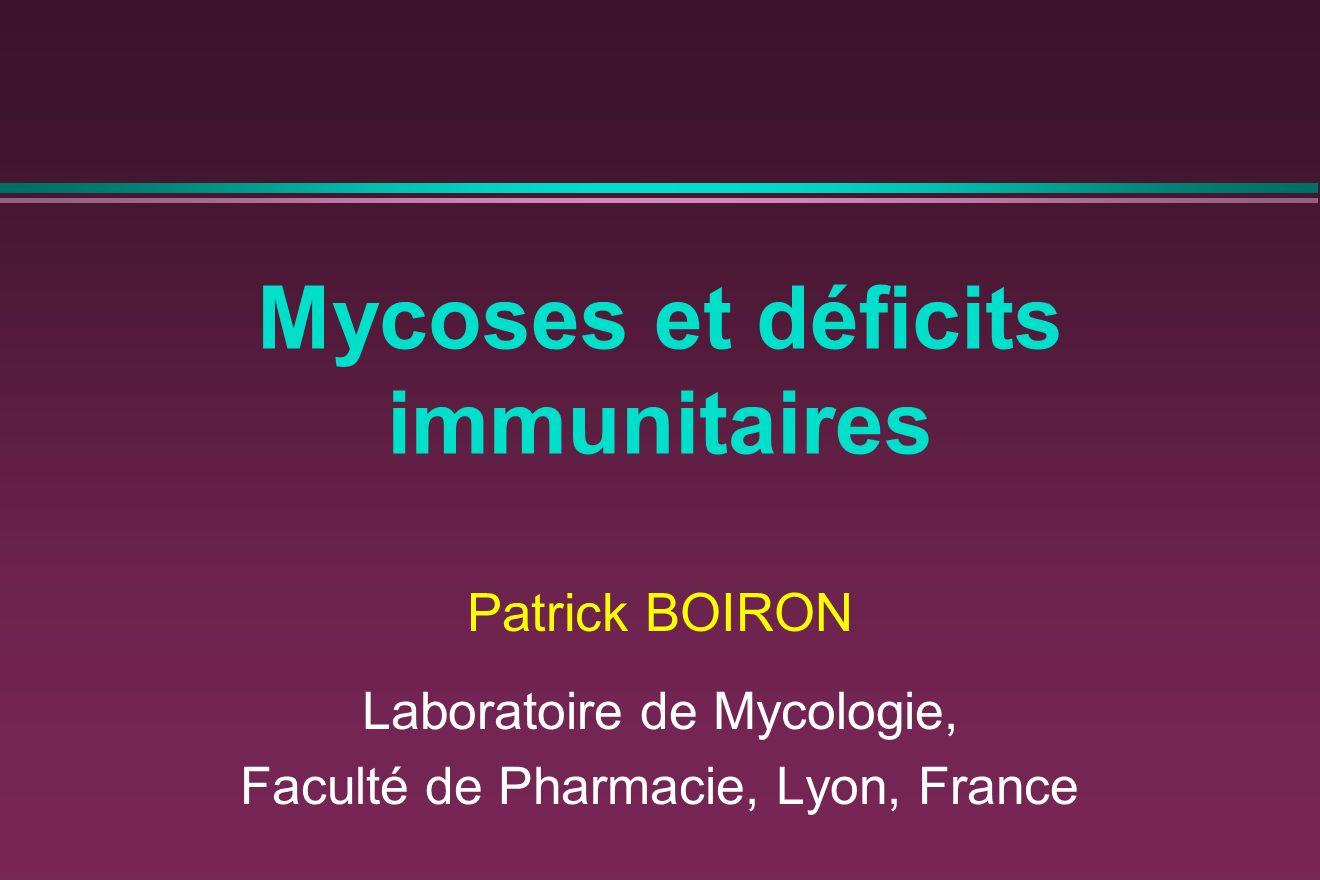 Mycoses et déficits immunitaires