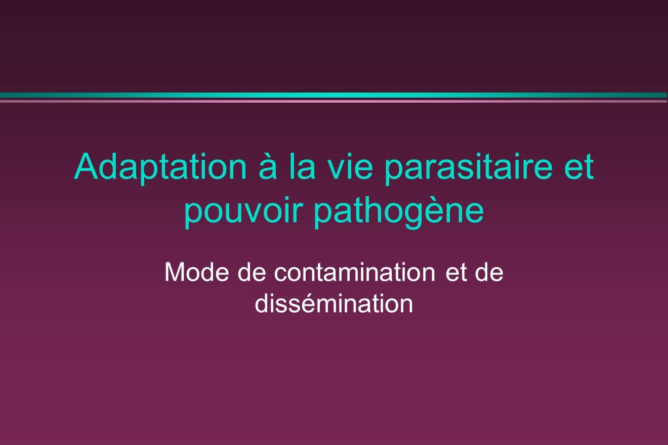 Adaptation à la vie parasitaire et pouvoir pathogène