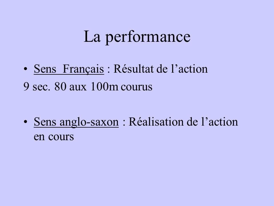 La performance Sens Français : Résultat de l'action