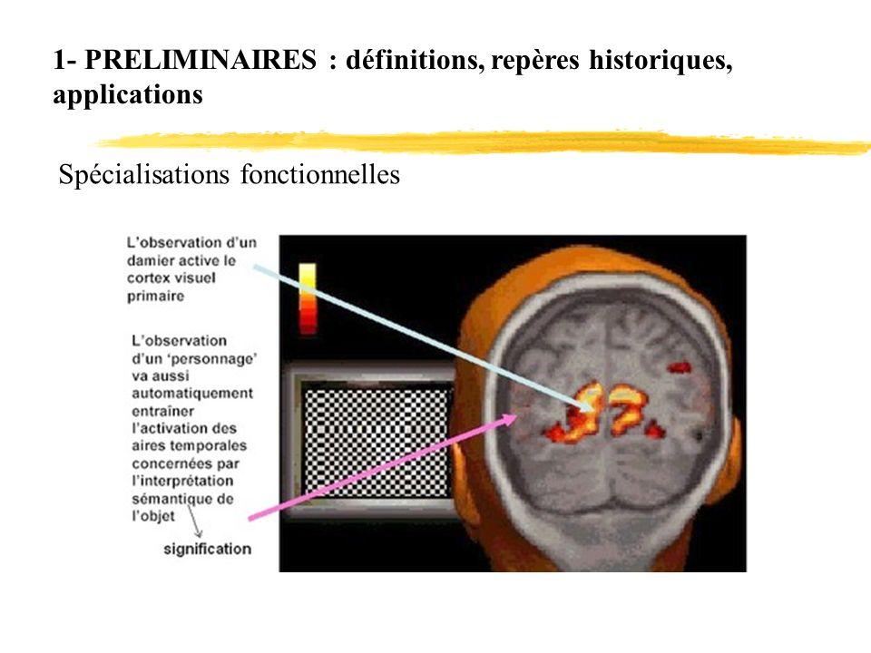 1- PRELIMINAIRES : définitions, repères historiques,
