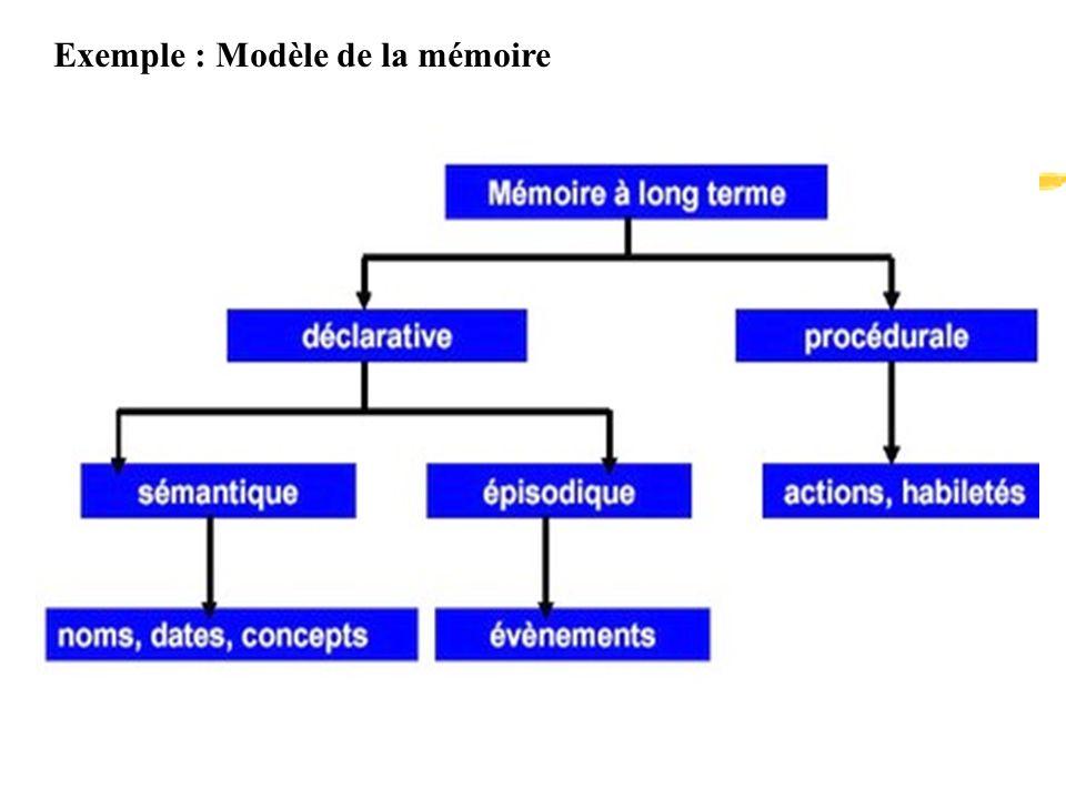 Exemple : Modèle de la mémoire