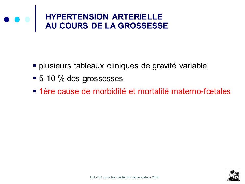 HYPERTENSION ARTERIELLE AU COURS DE LA GROSSESSE