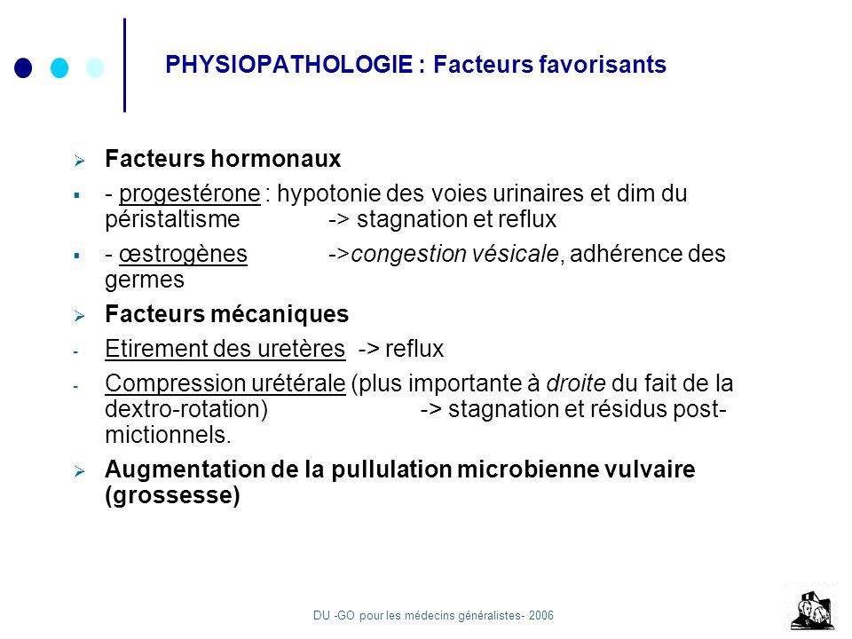 PHYSIOPATHOLOGIE : Facteurs favorisants