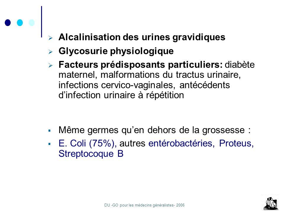 Alcalinisation des urines gravidiques