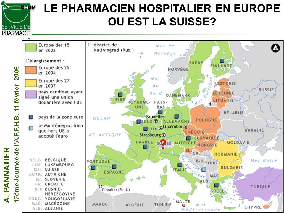 LE PHARMACIEN HOSPITALIER EN EUROPE
