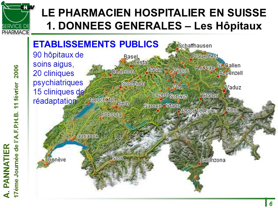 LE PHARMACIEN HOSPITALIER EN SUISSE