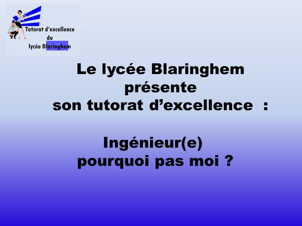 Le lycée Blaringhem présente son tutorat d'excellence :