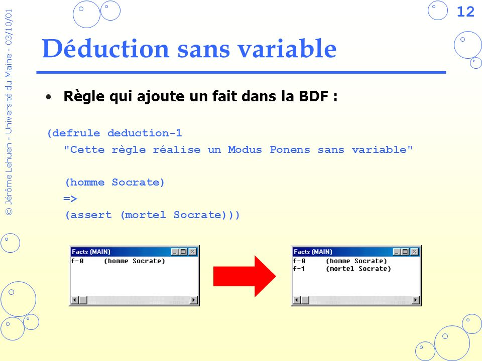 Déduction sans variable
