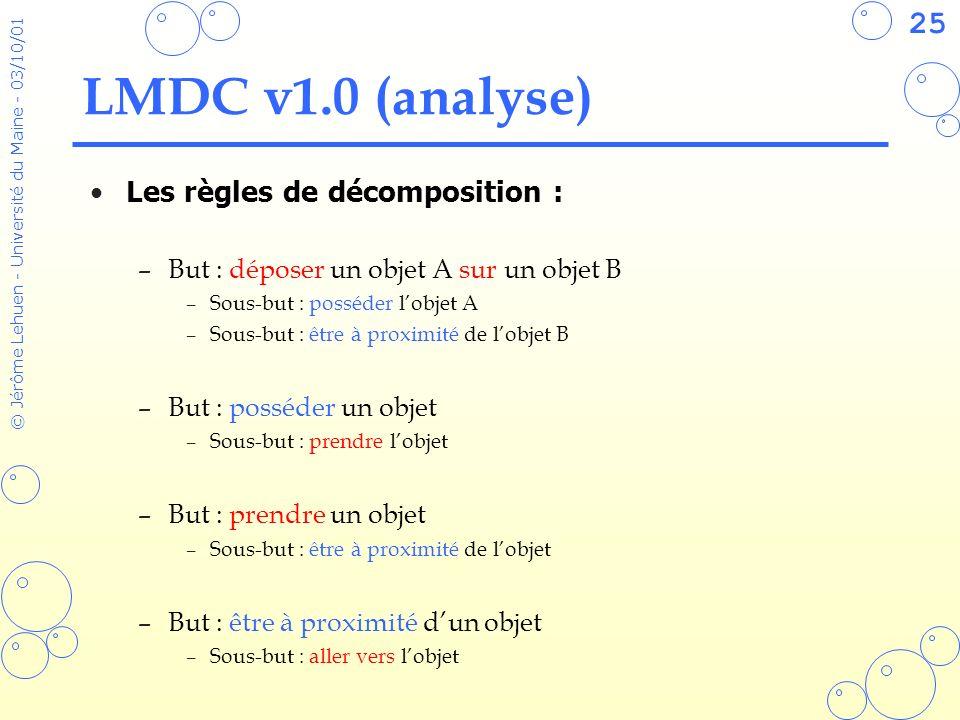 LMDC v1.0 (analyse) Les règles de décomposition :
