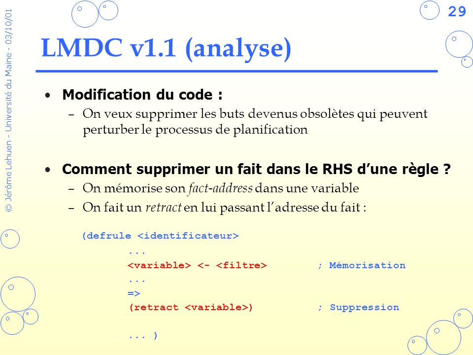 LMDC v1.1 (analyse) Modification du code :