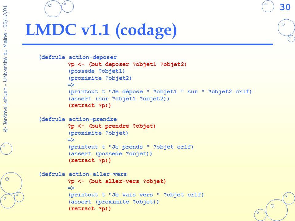 LMDC v1.1 (codage) (defrule action-deposer