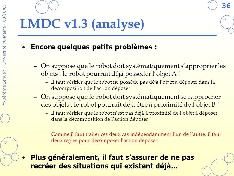 LMDC v1.3 (analyse) Encore quelques petits problèmes :