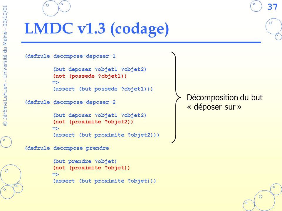 LMDC v1.3 (codage) Décomposition du but « déposer-sur »