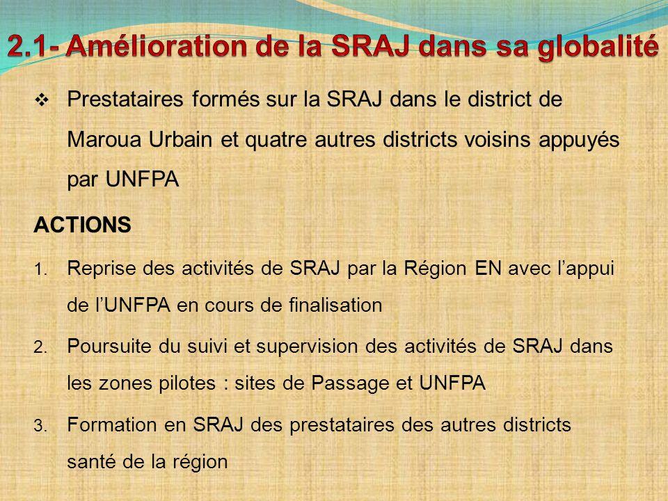 2.1- Amélioration de la SRAJ dans sa globalité