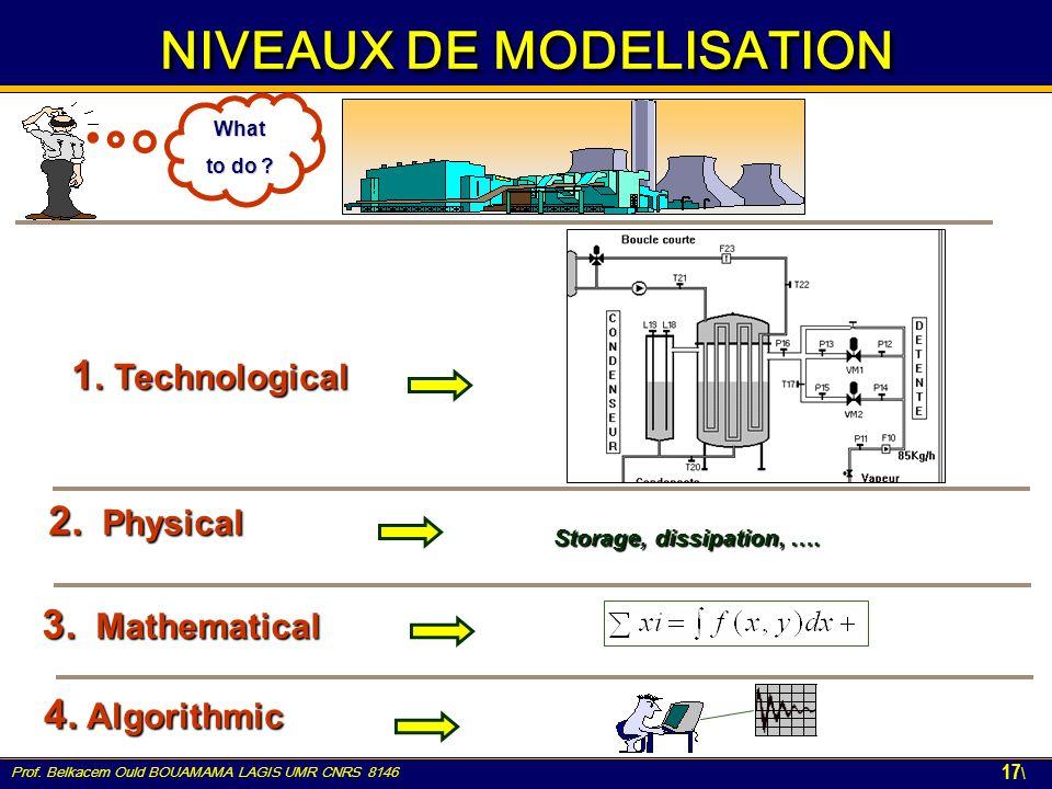NIVEAUX DE MODELISATION