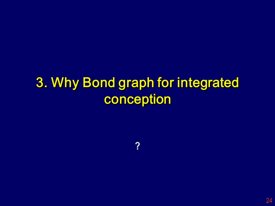 3. Why Bond graph for integrated conception