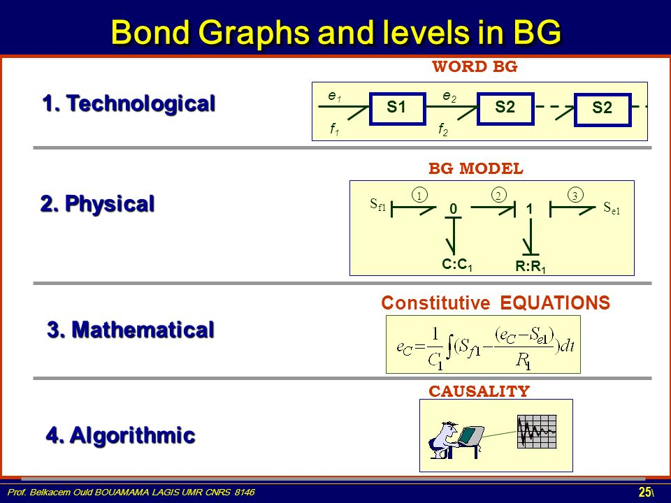 Bond Graphs and levels in BG