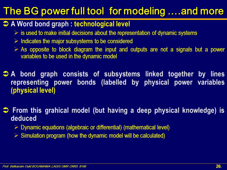 The BG power full tool for modeling ….and more