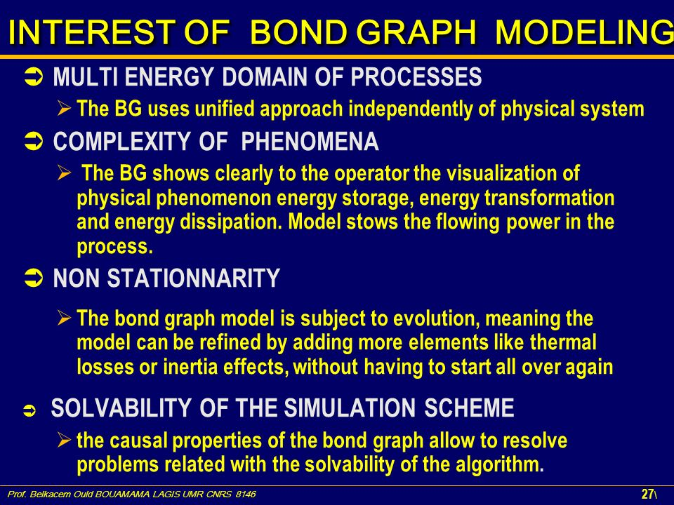 INTEREST OF BOND GRAPH MODELING