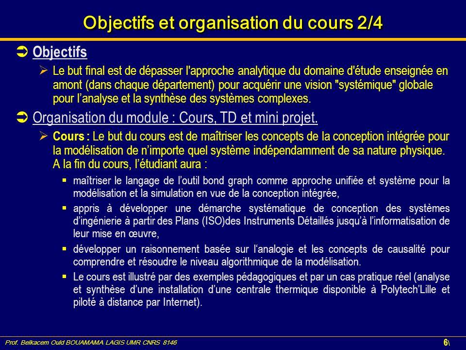 Objectifs et organisation du cours 2/4
