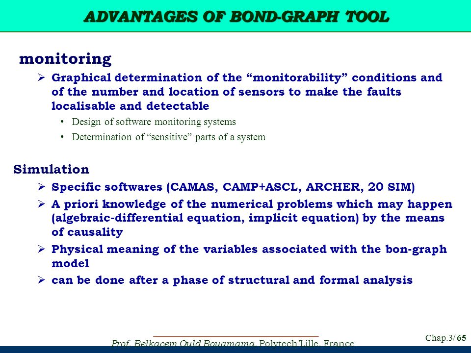 ADVANTAGES OF BOND-GRAPH TOOL