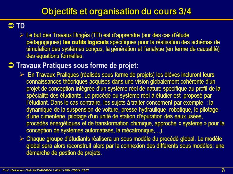 Objectifs et organisation du cours 3/4