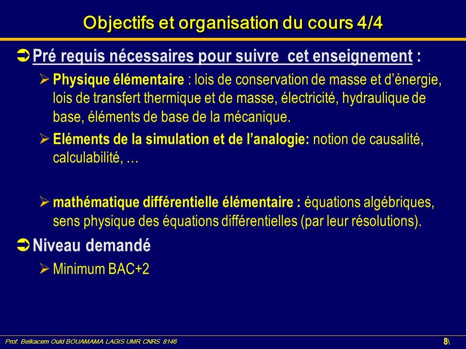 Objectifs et organisation du cours 4/4