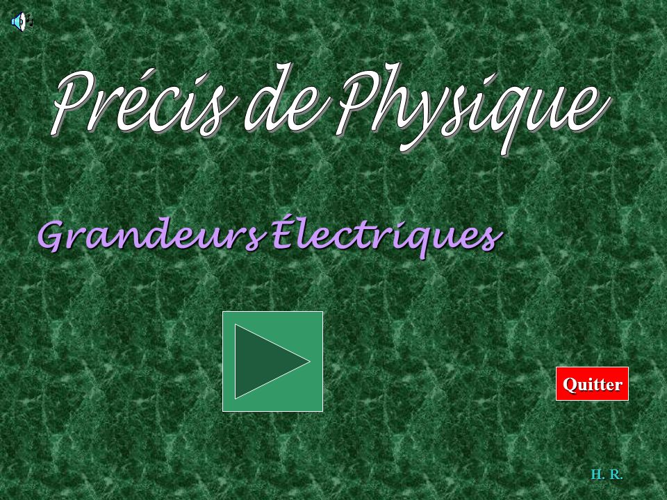 Grandeurs Électriques