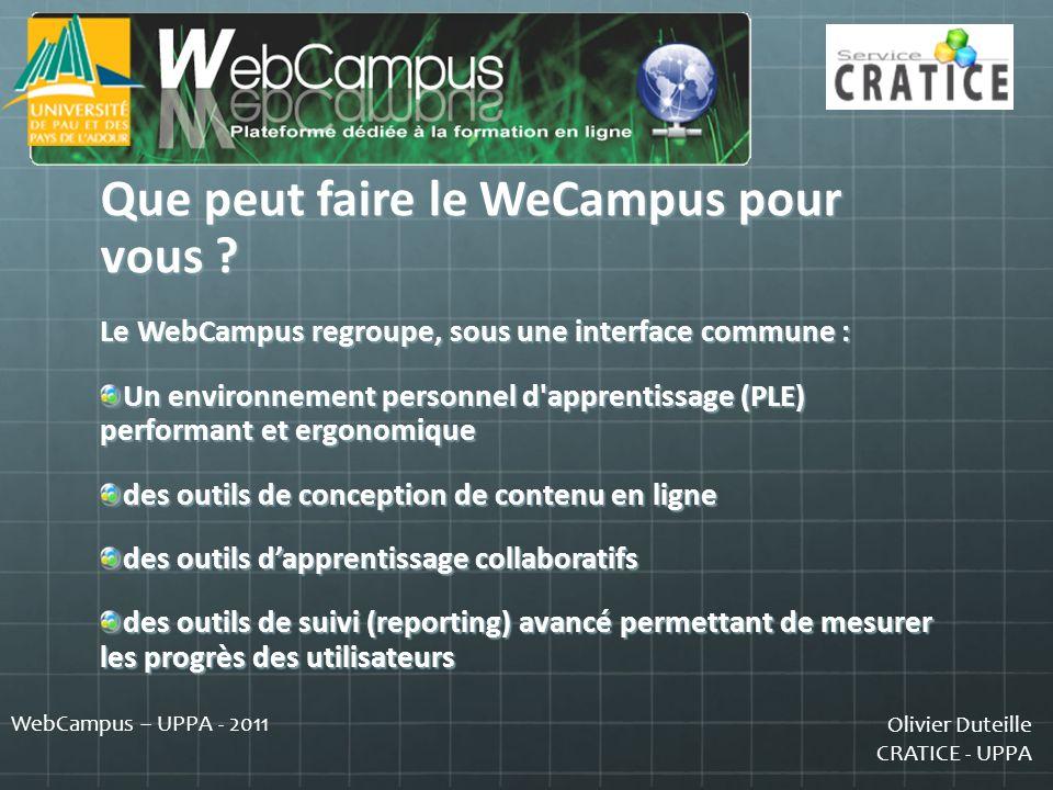 Que peut faire le WeCampus pour vous